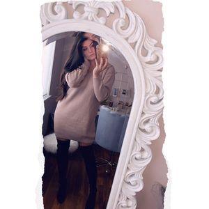 Lace Back Sweater Dress